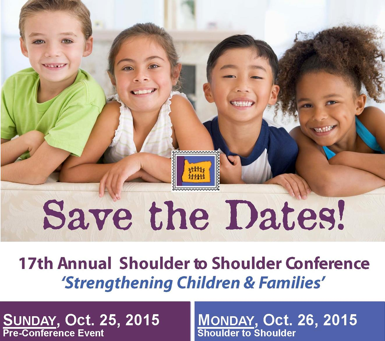 Shoulder to Shoulder Save the Date Graphic